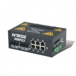 Red Lion Controls - 508FX2-A-SC - N-TRON 508FX2-A-SC Ethernet Switch, 8 Port, Advanced Management Features, N-View