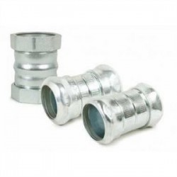 AFC Cable Systems - 0310-04-00 - AFC 0310-04-00 EMT Compression Coupling, 3-1/2, Concrete Tight, Steel/Zinc