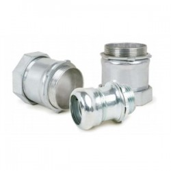 AFC Cable Systems - 0214-20-00 - AFC 0214-20-00 EMT Compression Connector, 1, Insulated, Concrete Tight, Steel