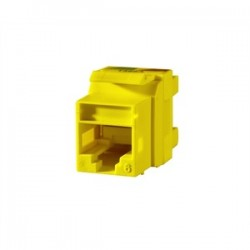 Ortronics - OR-KS6A-44 - Ortronics OR-KS6A-44 Snap-In Connector QuickPort CAT 6 Yellow