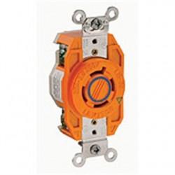 Leviton - 2420-IG - Leviton 2420-IG Sgl Lock Fl Recept-ig