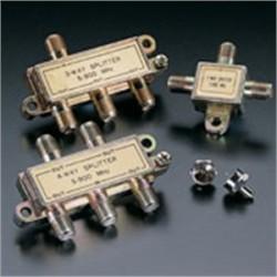 Leviton - 40987-3 - Leviton 40987-3 Splitter, 3-Way, Satellite/Digital TV, 75 Ohm, Gold Plated