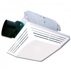 Air King - ASLC50 - Air King ASLC50 Ceiling Fan/Light, 50 CFM, Incandescent