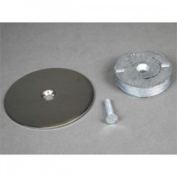 Wiremold / Legrand - 1044S - Wiremold 1044S Blanking Top Plate, Diameter: 3-1/2, For use with: 3/4 IPS, Stainless Steel