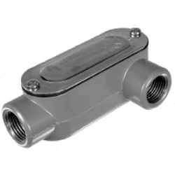 Topaz Lighting - LL10CG - Topaz LL10CG Conduit Body With Cover/Gasket, Type: LL, Size: 4, Aluminum/Steel