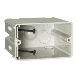 Allied Moulded - SB-1H - Allied Moulded SB-1H Switch/Outlet Box, 1-Gang, Adjustable, Depth: 3-9/16, Non-Metallic