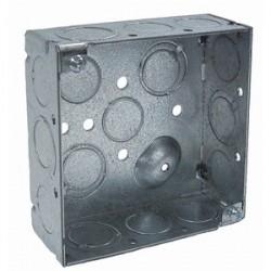 Appleton Electric - 4SD-EK - Appleton 4SD-EK 4 Square Box, Welded, Metallic, 2-1/8 Deep