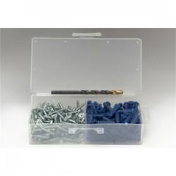 BizLine - 8412E - Bizline 8412E Plastic Anchor Kit, Blue Anchors, # 12 x 1 Screws, Pan Head/Combo