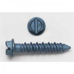 BizLine - 3902J - Bizline 3902J Masonry Screw, Hex Head, Slotted, 1/4 x 1-1/4, Jar of 100