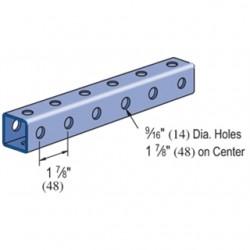 Atkore - P920010PG - Power-Strut P920010PG Channel - Bolt Holes/Back & Side, Steel, Pre-Galvanized, 1-5/8 x 1-5/8 x 10'