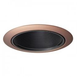 Acuity Brands Lighting - 14B-ABZ - Juno Lighting 14B-ABZ Baffle Trim, 4, Black Baffle/Classic Aged Bronze Trim