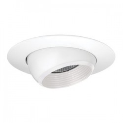 Acuity Brands Lighting - 208NW-WH - Juno Lighting 208NW-WH Adjustable Eyeball Trim, 5, PAR20, White Baffle/White Trim
