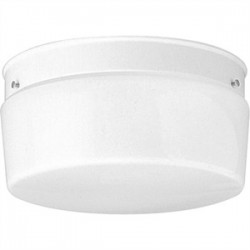 Progress Lighting - P3520-30 - Progress Lighting P3520-30 Drum Fixture, 2-Light, 75W, White