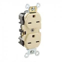 Leviton - 5662-I - Leviton 5662-I 15 Amp, 250 Volt, Narrow Body NEMA 6-15R, Ivory