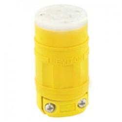 Leviton - 1549 - Leviton 1549 15 Amp Connector, 250V, 6-15R, Dust-tight, Yellow