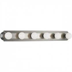 Progress Lighting - P3026-09 - Progress Lighting P3026-09 Bath Light, 6 Light, 60W, Brushed Nickel