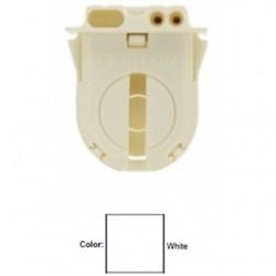 Leviton - 23652-NP - Leviton 23652-NP Fluorescent Lampholder, Medium Base, Turn Type w/ Lock, White