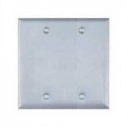 Teddico - BC-2V - BWF BC-2V Weatherproof Cover, 2-Gang, Type: Blank, With Gasket & Screws, Steel