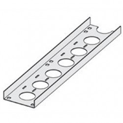 Eaton Electrical - SS4CC-04-144 - Cooper B-Line SS4CC-04-144 Cable Tray Channel, Straight Section, Ventilated, 4 Wide, 12' Long, Stainless Steel