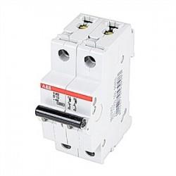 ABB - S202-D10 - ABB S202-D10 Circuit Breaker, Miniature, DIN Rail Mount, 10A, 2P, 480Y/277VAC