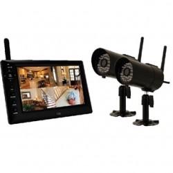 BRK Electronics - DWS-472 - BRK-First Alert DWS-472 DVR, 4 Channel, MPEG-4 Digital Wireless, 7 LCD Screen 2 Cameras
