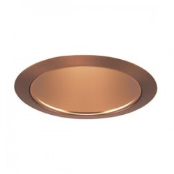 Acuity Brands Lighting - 206WHZ-ABZ - Juno Lighting 206WHZ-ABZ Cone Trim, Deep, 5, BR30/PAR30, Wh. Haze Reflector/Aged Bronze Ring