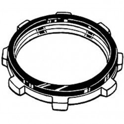Hubbell - 1202 - Hubbell-Raco 1202 Sealing Locknut, 1/2, Steel