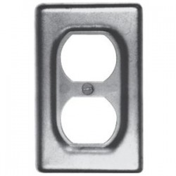 Eaton Electrical - DS23SA - Cooper Crouse-Hinds DS23SA Duplex Receptacle Cover, 1-Gang, Aluminum