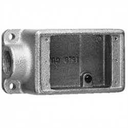 Eaton Electrical - FD2 SA - Cooper Crouse-Hinds FD2 SA FD Device Box, 1-Gang, Dead-End, Type FD, 3/4, Aluminum