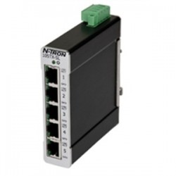 Red Lion Controls - 105TX-SL - N-TRON 105TX-SL Switch, Unmanaged Industrial EtherNet, 5 Port, Slim, DIN Rail Mount