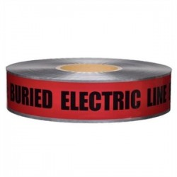 L.H. Dottie - DU609 - Dottie DU609 Detectable Tape, CAUTION BURIED HIGH VOLTAGE LINE, Red, 6 x 1000'