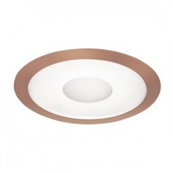 Acuity Brands Lighting - 242-ABZ - Juno Lighting 242-ABZ Shower Trim, 6, Classic Aged Bronze Trim, Frosted Lens/Clear Center