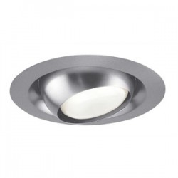 Acuity Brands Lighting - 229-SC - Juno Lighting 229-SC Adjustable Eyeball Trim, Regressed, 6, PAR30L/BR30, Satin Chrome