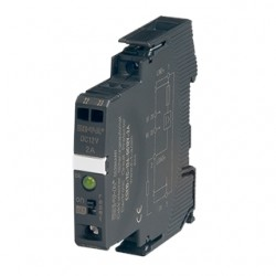 E-T-A Circuit Breakers - ESX10-TC-124-DC12V-1A-E - E-T-A Circuit Breakers ESX10-TC-124-DC12V-1A-E Electronic Breaker, Din Rail Mount, 1A, 12VDC, Signal Contact