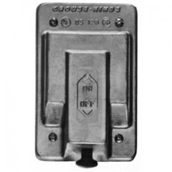 Eaton Electrical - DS128 - Cooper Crouse-Hinds DS128 Snap Switch Cover, 1-Gang, Aluminum