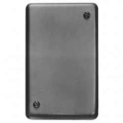 Eaton Electrical - DS100 - Cooper Crouse-Hinds DS100 Blank Cover, 1-Gang, Cast Aluminum