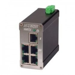 Red Lion Controls - 105TX - Switch, 5 Ports, Industrial, Unmanaged Fast Ethernet, DIN Rail, RJ45 x 5, 10Mbps, 100Mbps