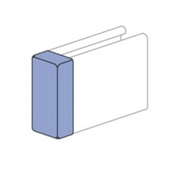 Atkore - P286050VY - Unistrut P286050VY Channel Safety End Cap, For Use With P5000 and P1001 Channel, Plastic