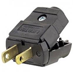 Leviton - 101-EP - Leviton 101-EP 15 Amp Polarized Plug, 125V, 1-15P, Thermoplastic, Black