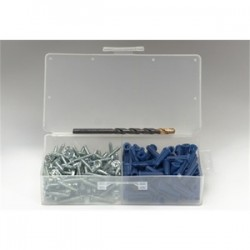 BizLine - 8610E - Bizline 8610E Plastic Anchor Kit, Blue Conical Anchors, # 10 x 1 Screws, Pan/Square
