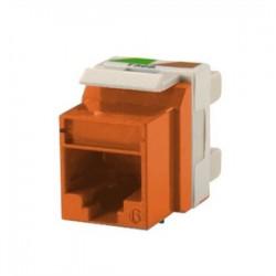 Ortronics - OR-KS5EA-43 - Ortronics OR-KS5EA-43 Snap-In Connector TechChoice CAT 5e Orange