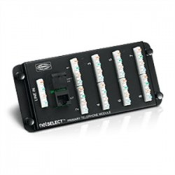 Hubbell - NSOTVDM6 - Hubbell-Premise NSOTVDM6 Combo Distribution Module, 6-Port Telephone, Video, and Cat5e, 3RMU