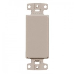 Hubbell - NS620AL - Hubbell-Bryant NS620AL Decorator Outlet Frame, Blank, Nylon, Light Almond