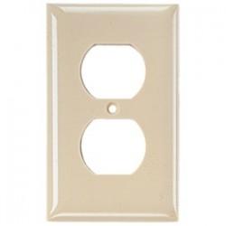 Hubbell - NPJ8LA - Hubbell-Wiring Kellems NPJ8LA Duplex Wallplate, 1-Gang, Nylon, Light Almond, Midway