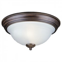 Sea Gull Lighting - 77050-71 - Sea Gull 77050-71 2l Flushmount Antique Bronze
