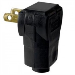 Leviton - 101AN - Leviton 101AN 15 Amp Easy Wire Angle Plug, 125 Volt, 1-15P, Black