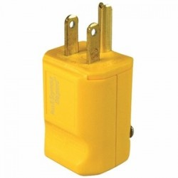Pass & Seymour - PS5965-Y - Power Entry Connector, Electrical AC Power, 15 A, Yellow, Nylon (Polyamide) Body, 125 V