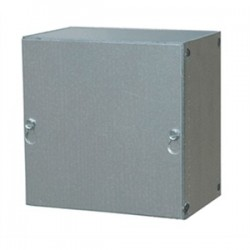 E-Box - 12124SCP - E-Box 12124SCP Enclosure, NEMA 1, Screw Cover, 12 x 12 x 4, Steel/Gray Powder Coat