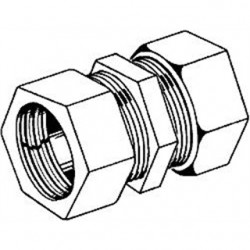Hubbell - 1828 - Hubbell-Raco 1828 Rigid Compression Coupling, 2, Malleable