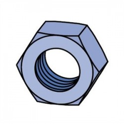 Atkore - HHXN025-EG - Unistrut HHXN025-EG Hex Nut, Steel, Electro-Galvanized, 1/4